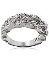 Shaze Ring for Women (Silver) (BRAIDED RING SLV 10335:7)