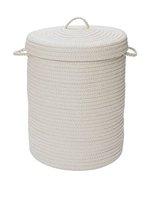 Colonial Mills Solid Hamper, (White)