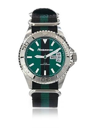 Neckmarine Uhr mit japanischem Uhrwerk NKM99210 schwarz/grün 44 mm
