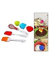 Hua You Reusable Silicone Cupcakes Baking Set, 12 Pieces (Random Colors)
