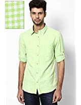 Green Casual Shirt (trim Fit) John Players