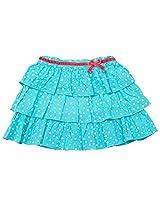 Beanstalk Kids Girls Skirt With All Over Print, Multi Colour