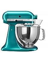 KitchenAid Artisan Design 5KSM150PSBSA 10 Speed 4.8 Litre (5Qt) 300 Watt Tilt Head Stand Mixer with Flat Beater, Dough Hook, Whisk, Stainless Steel Bowl & Pouring Shield (Sea Glass)