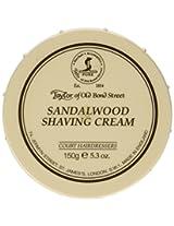 Taylor of Old Bond Street Sandalwood Shaving Cream Bowl, 5.3-Ounce (2 Pack)