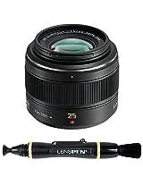 Panasonic H-X025E Interchangeable Lens + Lenspen NLP-1 Cleaning Brush (Black)
