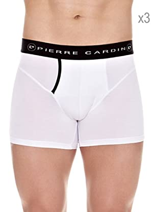 Pierre Cardin Pack x 3 Boxers Modal Largo (Blanco)