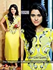 Kajol gold queen in dsigner anarkali dress