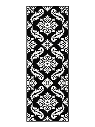 Universal Rugs Metro Contemporary Runner, Black, 3' x 8'