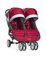 Baby Jogger City Mini Double Stroller, Crimson/Gray