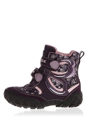 Geox Gulp Wpf B2404K0Fu22C8015 - Zapatitos de niñas con cierre de velcro (Violeta)