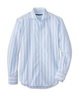 Zachary Prell Men's Russ Striped Long Sleeve Shirt (Blue)
