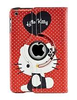 LiViTech(TM) Hello Kitty Design 360 Degree Rotating PU Leather Hard Case for Apple iPad 4 3 2 iPad Mini (iPad Mini Color 4)