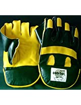 Combat Club Leather Wicket Keeping Gloves-Full Size