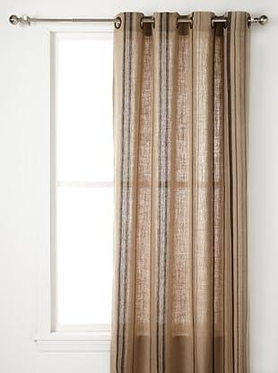Pure Linen Stripe Panel (Natural Black)