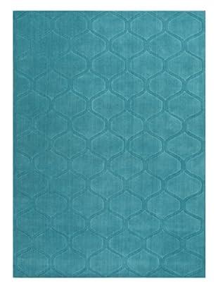 Jaipur Rugs Handmade Looped & Cut Solid Rug (Aqua)