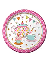 Creative Converting 8 Count Paper Dinner Plates, Tea Time