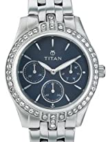 Titan Purple Analog Blue Dial Women's Watch -9968SM01J