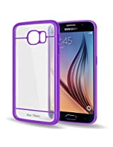 Bear Motion for Galaxy S6 - Premium Bumper Ring with Back Cover for Samsung Galaxy S6 - Purple