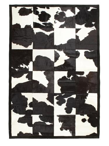 Hide Rug Mono Patchwork, 6' x 9'