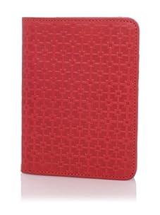 Hlaska Artifacts Women's Embossed Passport Case (Tritone Red)