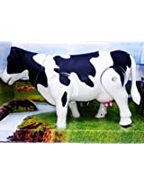 "Milk Cow Moving Legs & Shake Tail Make Sound Big Size 12"" Toy"