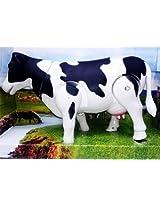 "Milk Cow Moving Legs & Shake Tail Make Sound Big Size 12"" Toy"