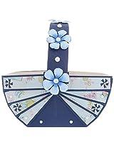 Clea favors Paper Baby Announcement Basket (20.5 cm x 11.5 cm x 18 cm, Blue)