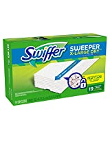 Swiffer Sweeper XL Dry Sweeping Pad Refills for Floor mop Unscented 19 Count