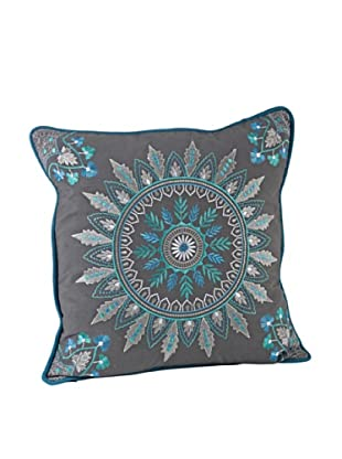 Saro Lifestyle Grey Nirmala Pillow