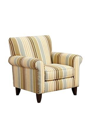 Armen Living Danny Zola Fabric Chair, Flax