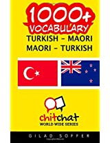 1000+ Turkish - Maori, Maori - Turkish Vocabulary