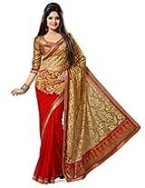 Janasya Brasso Saree(Jne0299_Red)