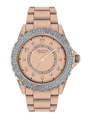 K&BROS 9558-7 / Reloj de Señora con correa de plástico rosa