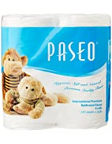 Paseo Tissues Toilet Roll 3 Ply - 220 Pulls (4 Rolls)