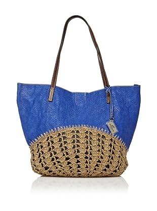 Sándalo Bolso Crochet (Azul)