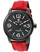 Swiss Military by R Men's 50504 37N N Sniper Analog Display Swiss Quartz Red Watch