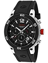 red line Men's 50033-01 Mission Chronograph Black Dial Black Silicone Watch