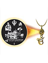 Dijyo Divine Darshan Golden temple with Guru nanak ji pendant For Unisex(SGP62GT)