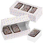Wilton 415-1991 3-Pack Snack Treat Box Rectangle with Tray Inside