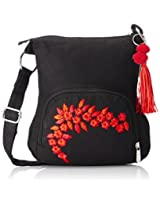 pick pocket Women's Sling Bag|Handbag|Messenger Bag|Satchel (Black) (Slblkremb24)