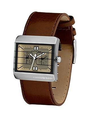ARMAND BASI A0421G11 - Reloj de Caballero movimiento de cuarzo con correa de piel Marrón