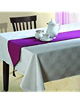 Purple Table Runner - Cotton Duck Fabric - 13 Inch by 72 Inch - Machine Washable