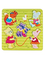 C.R. Gibson Playground Pals Chunky Wood Puzzle by Cathy Heck