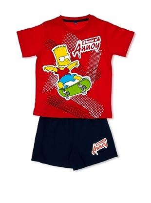 Licencias Pijama The Simpsons (Rojo / Marino)