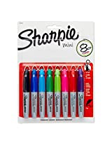 Sharpie Fine Point Mini Permanent Markers, 8 Colored Markers (35109PP)