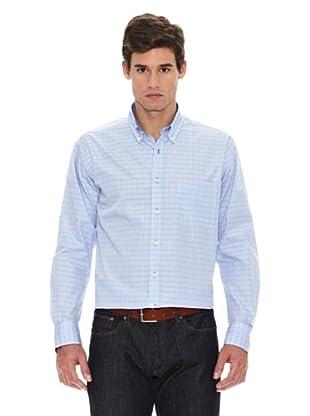 Turrau Camisa Cuadro Ventana Medio Bicolor (Azul)