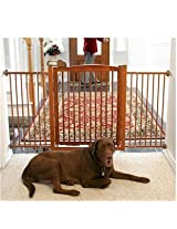Richell Extra Wide Tension Mount Hardwood Pet Gate With Door - Mahagony. Richell Extra Wide Tension Mount Hardwood Pet Gate With Door - Mahagony