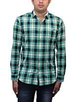 Romano Men's Green Cotton Shirt