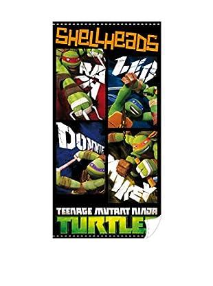 Tortugas Mutantes Toallas De Playa Shellheads (Verde)