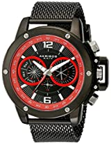 Akribos XXIV Men's AK515BK Conqueror Mesh Bracelet Multi-Function Watch